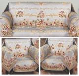 Set de cuverturi pentru canapea si fotolii Floral Gri