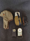 Obiecte vechi armata, militare: Bidon apa, curea, lanterna, etc.
