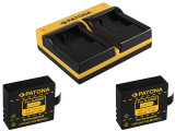 PATONA | Incarcator dual USB + 2 acumulatori pt SJCAM SJ4000 SJ5000 SJ6000