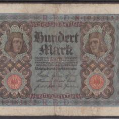 MDBS - BANCNOTA GERMANIA - 100 MARK - 1920