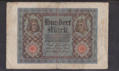 MDBS - BANCNOTA GERMANIA - 100 MARK - 1920 foto