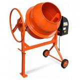Cumpara ieftin Mixer de beton și ciment 140 L 650 W din oțel portocaliu