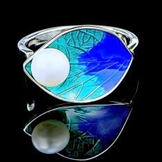 Inel din Argint 925 cu Perla Naturala, Azure