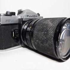 Fujica STX-1 cu obiectiv Soligor C/D Zoom+Macro 28-80mm f3.3-4.5