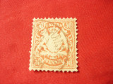 Timbru Bavaria  Bayern 1876 50 pf rosu  stampilat