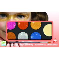 Culori make-up non alergice Djeco, metalic