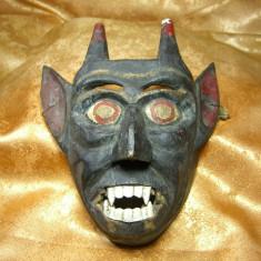 Masca Indonezia, lemn pictat, colectie, cadou, vintage