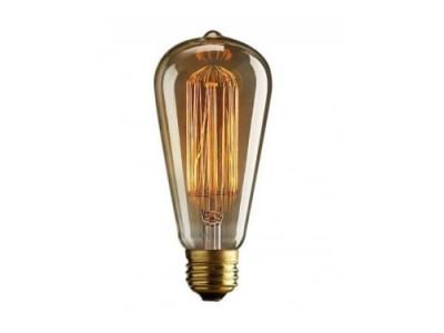 Lampa - bec retro decorativ Vintage cu dulie E27, lumina naturala foto