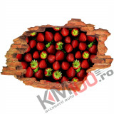"Sticker ""Wall Crack"" Fructe 1 - 120 x 80 cm"
