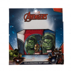 Set 3 perechi chiloti baieti Avengers rosii albi si albastri