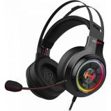 Casti gaming Edifier G4 TE negre iluminare RGB