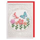 Felicitare - Butterfly Flowers | Alljoy Design