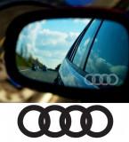 Stickere oglinda ETCHED GLASS - AUDI (set 3 buc.), 4World