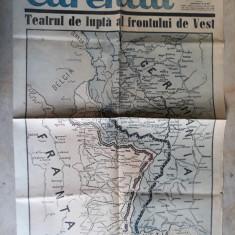 WWII - HARTA OPERATIUNI FRONTUL DE VEST - EXTRAS ZIARUL CURENTUL - 22 SEPT.1939