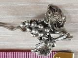 STRUGURE - Superba brosa veche eleganta mare argint 800