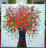 Tablou pictat manual pe panza in ulei Peisaj Vaza cu Flori A-435, Natura, Realism