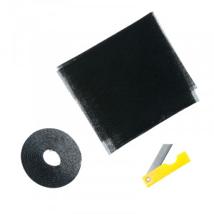 Plasa insecte pentru usa, 120 x 220 cm, Negru