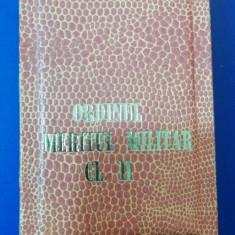 MCP1 - CUTIE DECORATIE MILITARA COMUNISTA - MERITUL MILITAR CLASA II + BONUS!!!