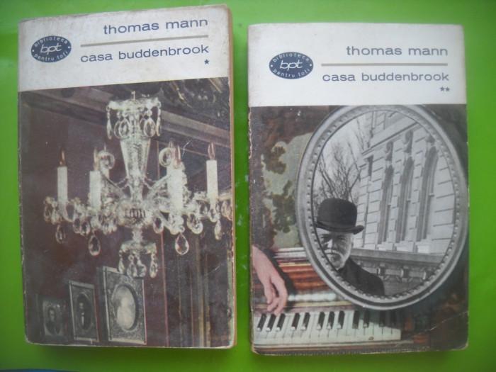 HOPCT  CASA BUDDENBROOK/THOMAS MANN BPT 1966 -2 VOL-811 PAGINI