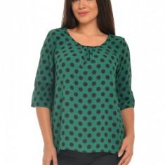 Bluza Dama verde cu Buline negre, L, M, S, XL