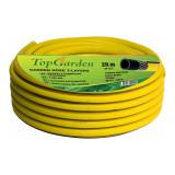 Cumpara ieftin Furtun de gradina Top Garden, 3 straturi, 3/4 inch, 20 m, 25 bar, poliester, Galben
