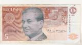 Bnk bn Estonia 5 krooni 1992 circulata