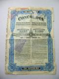 Actiuni Concordia 250 lei 1923 + 2 cupoane ptr. dividende anuale_nr. 76651-520