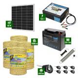 Pachet Gard electric 8,5J putere cu Panou Solar si 4000m de fir 160Kg