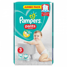 Scutece Pampers Active Baby Pants 3 Jumbo Pack, 60 buc/pachet