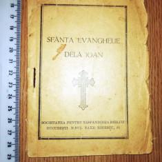 CARTICICA VECHE - SFANTA EVANGHELIE DE LA IOAN , BUCURESTI , BD TAKE IONESCU 36