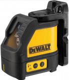 Nivela laser cu 2 linii Dewalt DW088KD-XJ, 15 m distanta lucru, +/- 0.3 mm precizie + detector Dewalt DE0892 + 1 acumulator + valiza profesionala + ca
