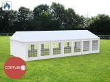 6X14 M CORT EVENIMENTE PROFESIONAL ECONOMY, PVC ignifug 500 g/m² ALB