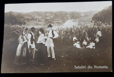 Salutari din Romania, Tarani Romani - Cp tip Foto foto