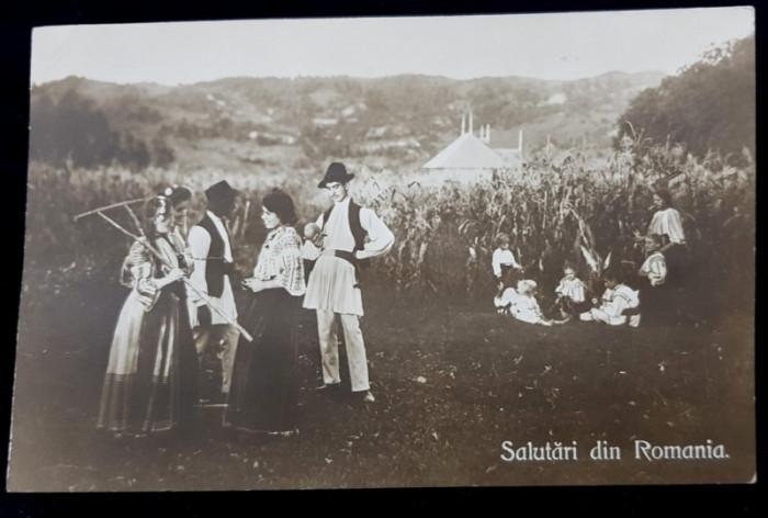 Salutari din Romania, Tarani Romani - Cp tip Foto