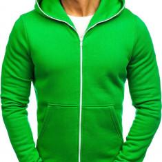 Bluză cu glugă pentru bărbat verde Bolf TOMMY