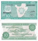 Burundi 10 Francs 2003 UNC
