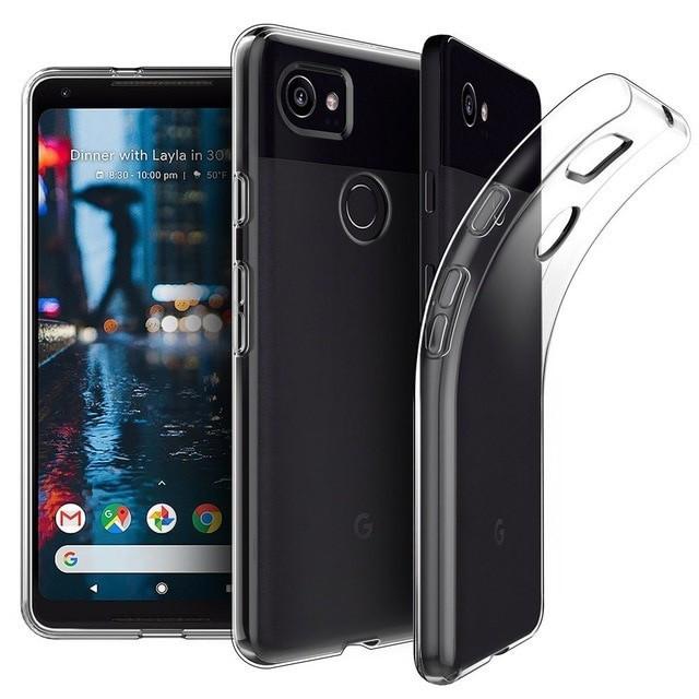 Husa silicon 0.3mm cu protectie la camera pentru Google Pixel 2 / Pixel 2XL