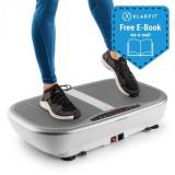 KLARFIT Vibe 3DX Pro, placă cu vibrații, 2 x 200 W, mod de control, 3D, albă