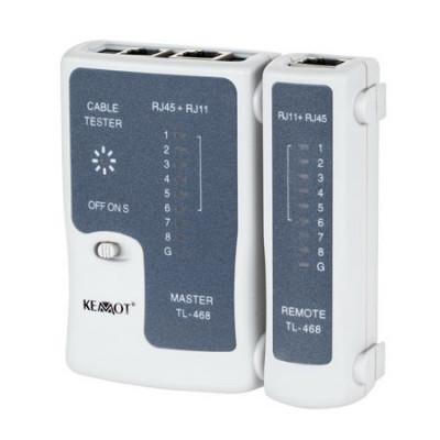 Tester cablu UTP Kemot, 4 perechi de cate 2 fire sau coaxial cu mufe BNC foto