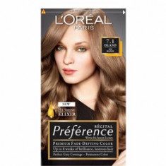 Vopsea de par permanenta cu amoniac L Oreal Paris Preference 7.1 L ISLANDE - BLOND CENUSIU