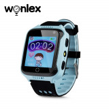 Ceas Smartwatch Pentru Copii Wonlex GW500s cu Functie Telefon, Localizare GPS, Camera, Lanterna, Pedometru, SOS - Albastru