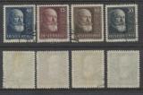 Austria 1928 serie completa stampilata 10 ani republica Mi.494-497