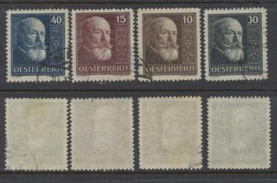 Austria 1928 serie completa stampilata 10 ani republica Mi.494-497 foto