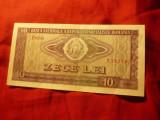 Bancnota 10 lei 1966 Romania , cal. F.Buna