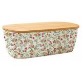 Cutie pentru depozitare paine sau alimente, din Bambus, cu capac din lemn