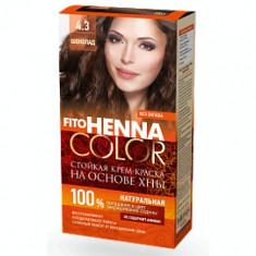 Vopsea de par permanenta fara amoniac FITO Henna Color 4.3 CIOCOLATIU