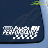 Audi Performance -Stickere Auto-Cod:ESV-233 -Dim  20 cm. x 7.2 cm.