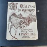 DE CAND M-A AFLAT MULTIMEA, HORA POPULARA, ARANJAMENT PENTRU VOCE SI PIANO DE I. PASCHILL
