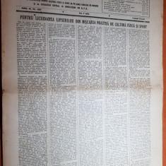 Sportul popular 9 iulie 1953-volei,popice,tir,ciclism,concursul nautic de fond