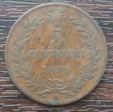 (M1087) MONEDA ITALIA - 5 CENTESIMI 1895, UMBERTO I, MAI RARA